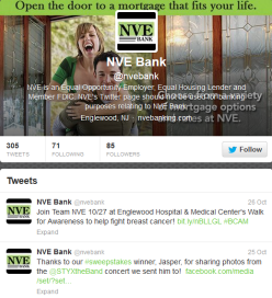 NVE Twitter page